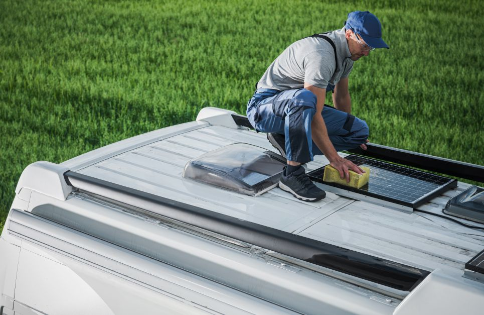how to mount solar panels on rv roof